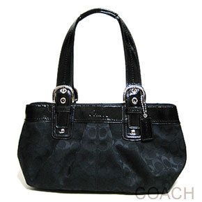 Limited Tote Bag Authentic Coach Signature Soho Pleated Black view Limited Tote Bag Authentic Coach Signature Soho Pleated Black