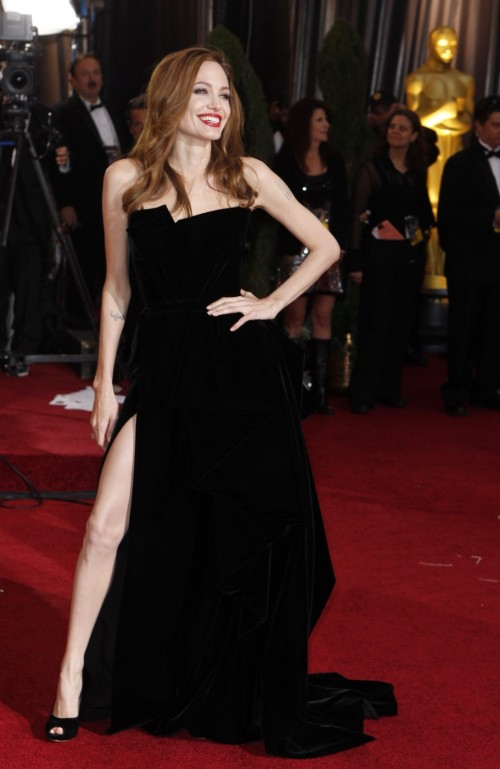 Oscars Red Carpet 2012 for Best Dressed and Biggest Trends angelina jolie 500x769 Oscars Red Carpet 2012 for Best Dressed and Biggest Trends