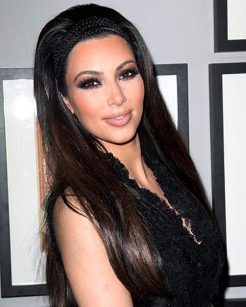 Kim Kardashian Long Hairstyle for 2012 retro 500x625 Kim Kardashian Long Hairstyle for 2012