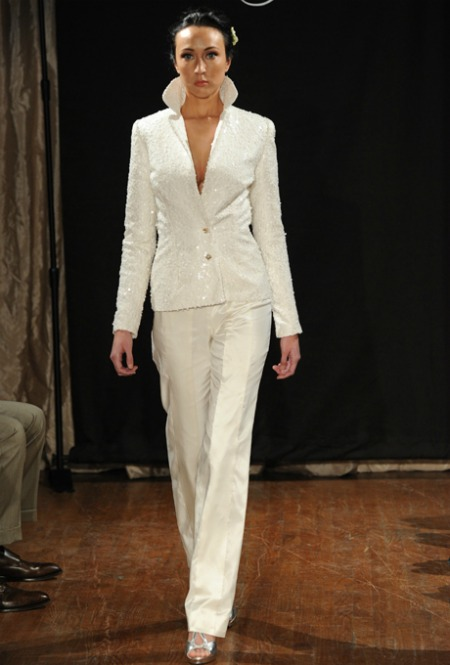 All white pant suits for women for Wedding dress pant suits