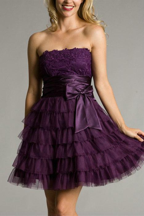 Similiar Dark Purple Short Homecoming Dresses Keywords