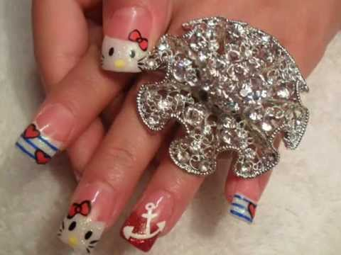 3d nails 20121 3D Nails Style a La Japanese Girl