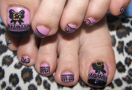 3d nails art1 3D Nails Style a La Japanese Girl