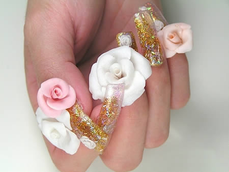 3d nails designs1 3D Nails Style a La Japanese Girl