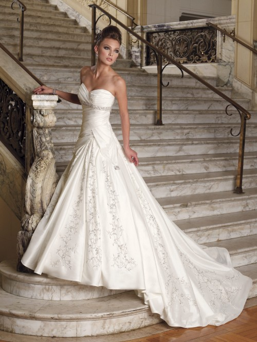 How to Draw Wedding Dresses white collection