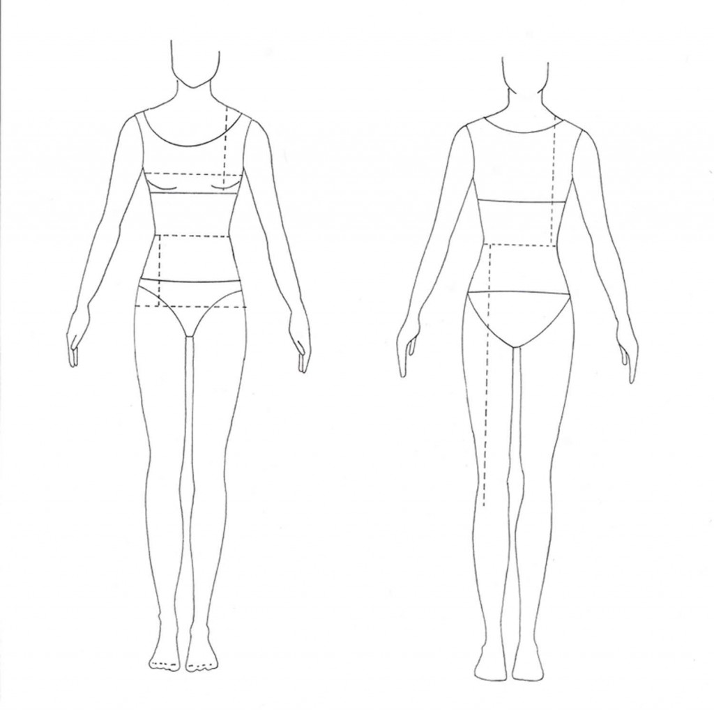Fashion Design Model Template Fashion Model Drawing