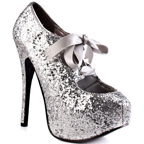 Silver Paris Hilton Ribbon Shoes 2012 Paris Hilton Ribbon Shoes 2012 Offering Fashionable Style