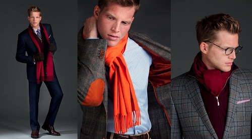 Suit with Scarf for Men Suit with Scarf for Men