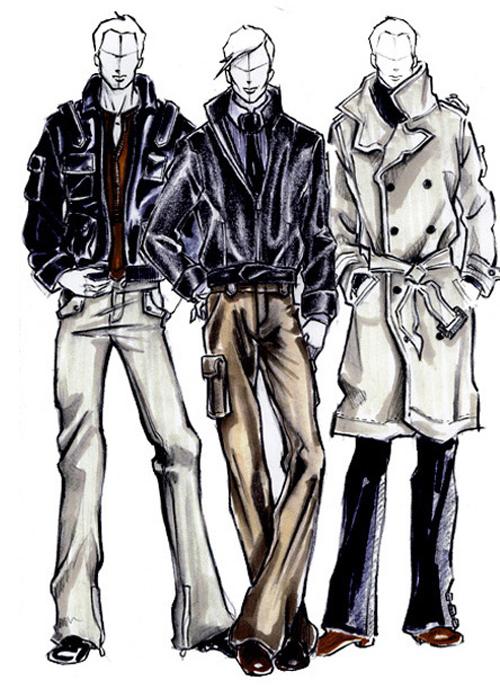 Men fashion illustration - photo#17