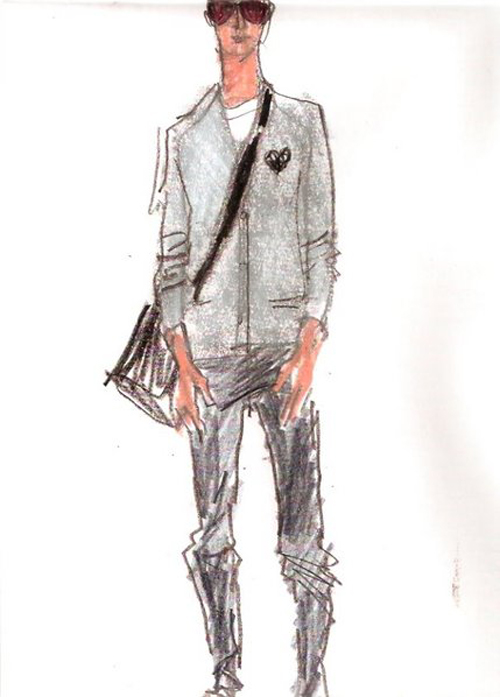 Fashion Sketch for Men with Style