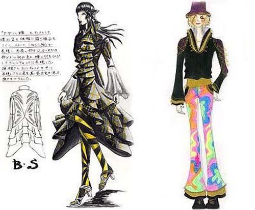 Harajuku fashion sketches: bring the