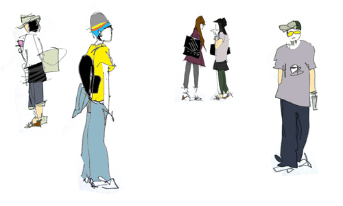 Harajuku Fashion Sketches Scene Harajuku fashion sketches: Bring the Uniqueness Over the World