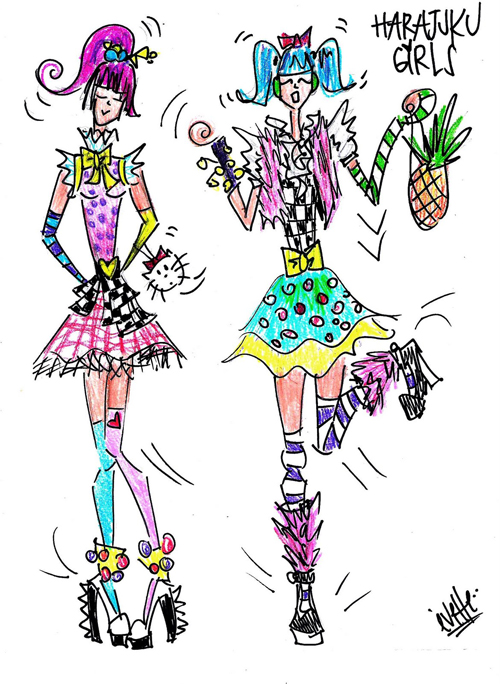 Harajuku Fashion Sketches Harajuku fashion sketches: Bring the Uniqueness Over the World