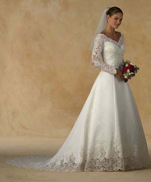 Lace Bridal Gowns Sleeves Lace Bridal Gowns: Pretty on Important Day
