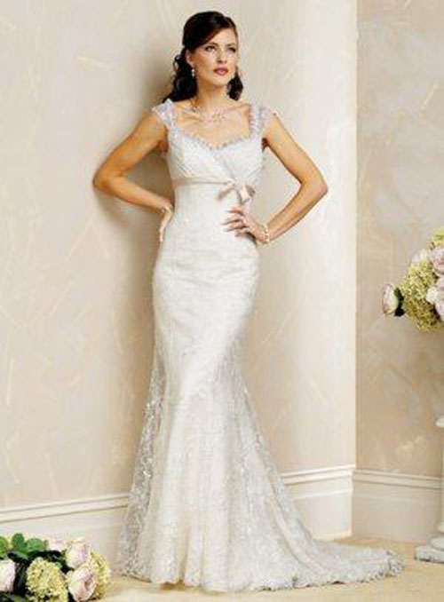 Lace Bridal Gowns with Cap Sleeves Lace Bridal Gowns: Pretty on Important Day