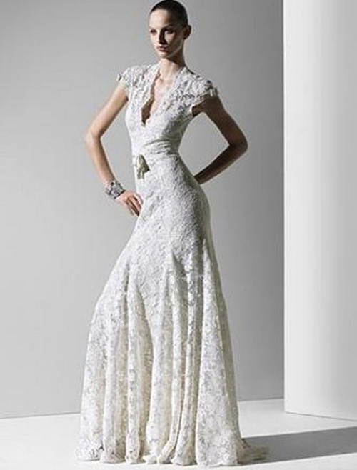 Lace Informal Wedding Dress Beautiful And Simple