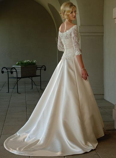 Lace Sleeve Wedding Dress Elegant And Classic