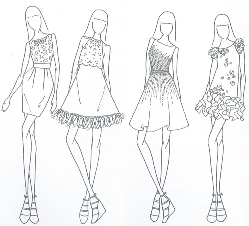 Outfit Sketches Designs For Summer