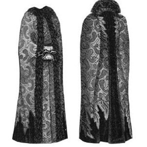Fashion style Cape Velvet pattern for halloween for lady