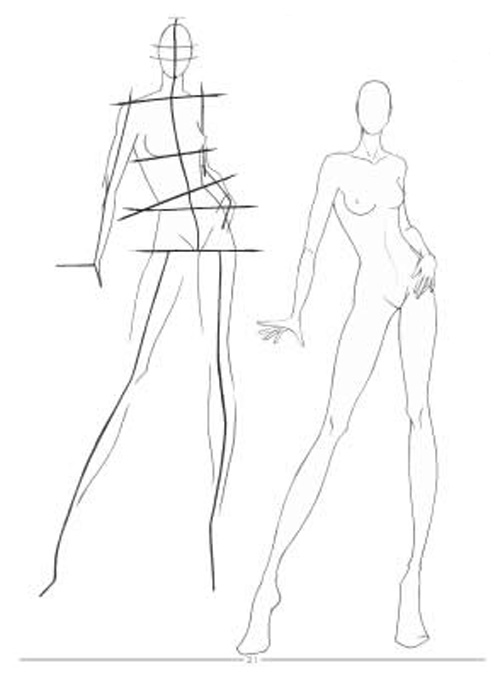 Fashion Sketches Body Drawing