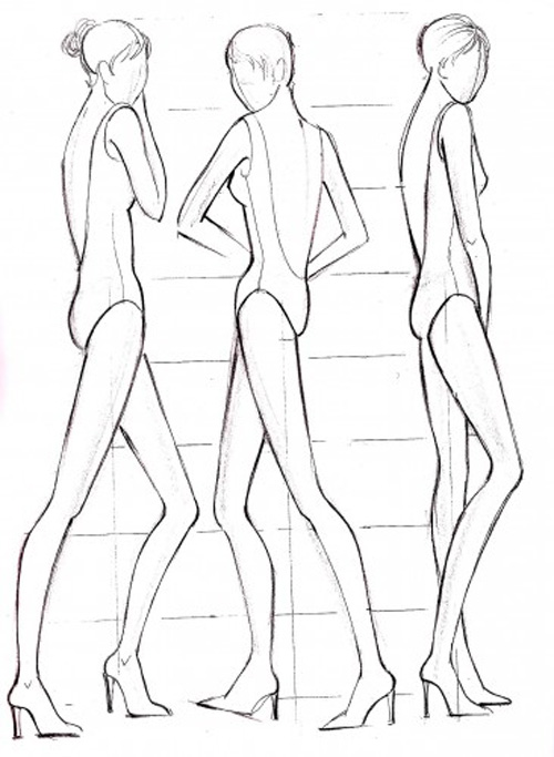 Fashion sketches body on how to draw for beginner for Fashion designer drawing template