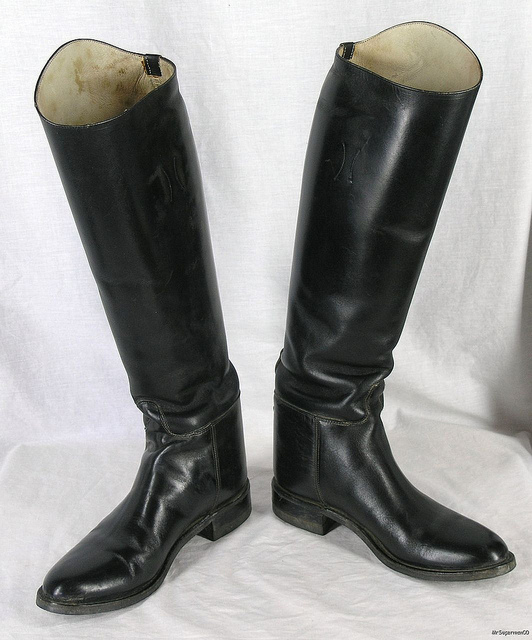 Black Used Riding Boots Used Riding Boots, Looked Wild and Elegant in the Same Time