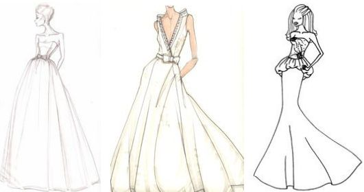 Dresses Sketches Design Ideas Dresses Sketches Design for Wedding or Party