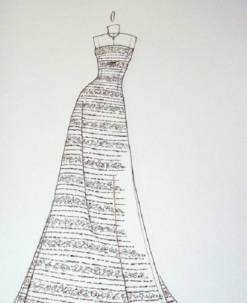 Dresses Sketches Design Dresses Sketches Design for Wedding or Party