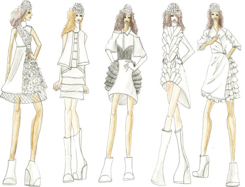 How to Draw A Dress Design Decor 500x383 How to Draw a Dress Design to Show Your Fashion