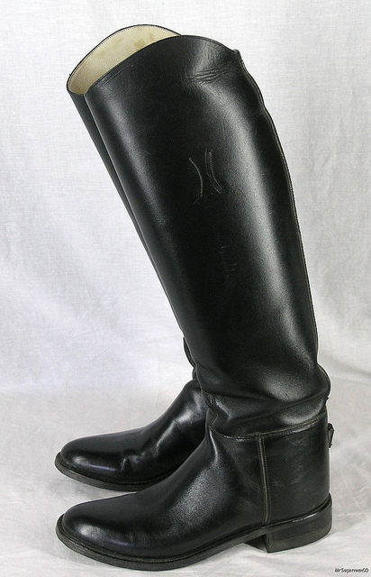 Used Riding Boots Used Riding Boots, Looked Wild and Elegant in the Same Time
