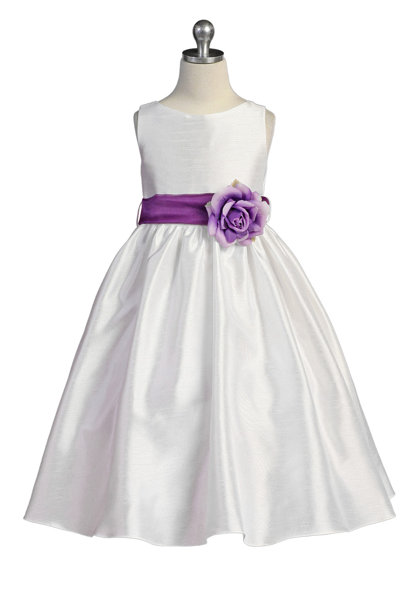 flower girl dresses in purple and white junoir
