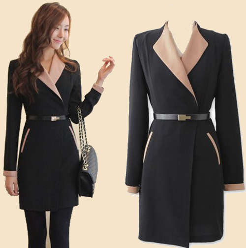 Black Work Dress With Professional Jacket - Fashion Show ON