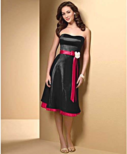black and red bridesmaid dress fashion show on