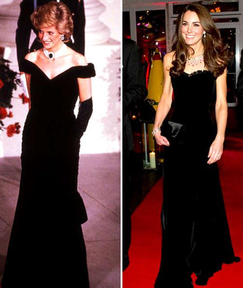 Kate Middletons Black Dresses Fashion Show On